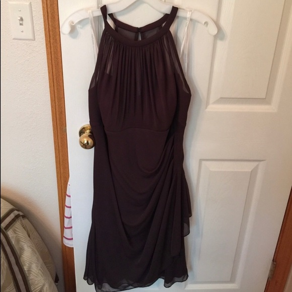 David's Bridal Dresses & Skirts - Ruffly truffle colored bridal dress